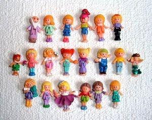 Original Polly Pockets   20 Polly Pocket Vintage Original Dolls Figures People   eBay