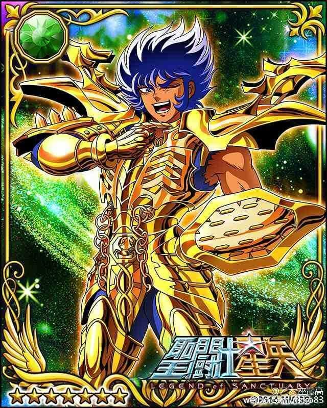 Gold Saint Cancer Deathmask 1 Galaxy Cards version Saint Seiya Legend of Sanctuary