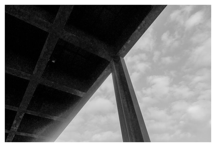 Neue National Gallery, Berlin   Mies van der Rohe  #architecture #berlin #germany #deutschland #art #miesvanderrohe #columns #cantilever #glass #facade #steel #roof #sky #grid #blackandwhite #monochrome #greyscale #photography