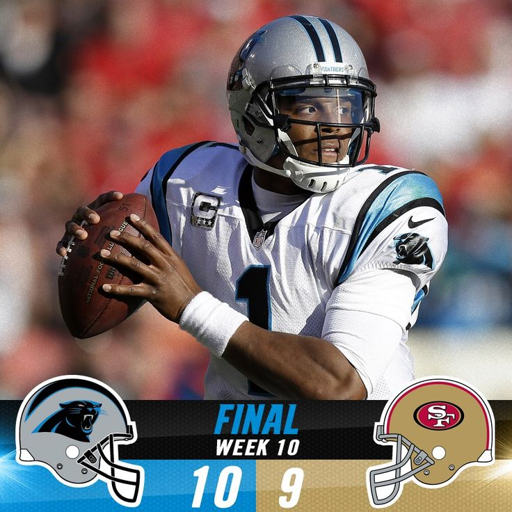 PANTHERS WIN! Carolina edges out San Francisco to win their fifth game in a row and improve to 6-3 on the year!