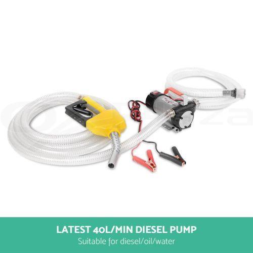 12V DC Bowser Oil Transfer Pump Auto Diesel Water Electric Bio-diesel Fuel