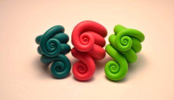 Set of 3 plain spiral dreadlock beads on Etsy, £4.80