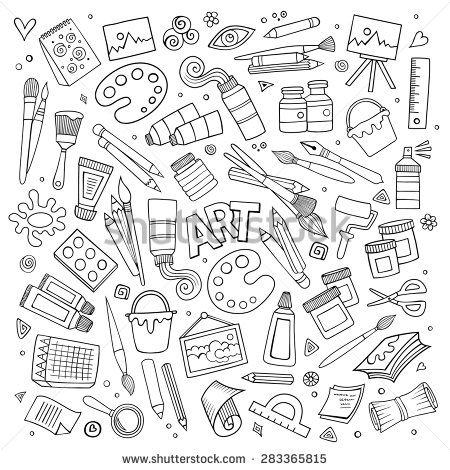 stock-vector-art-and-craft-hand-drawn-vector-symbols-and-objects-283365815.jpg (450×470)