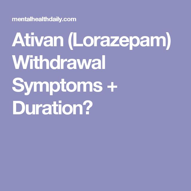 xanax withdrawal symptoms duration