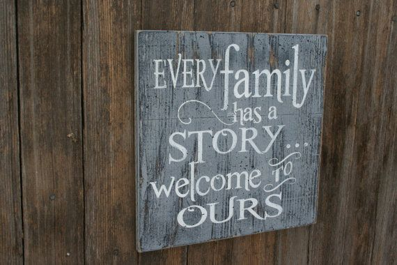 This is a wood sign that measures 12 x 12. The background is painted gray and wording is white. I will handpaint, sand for a