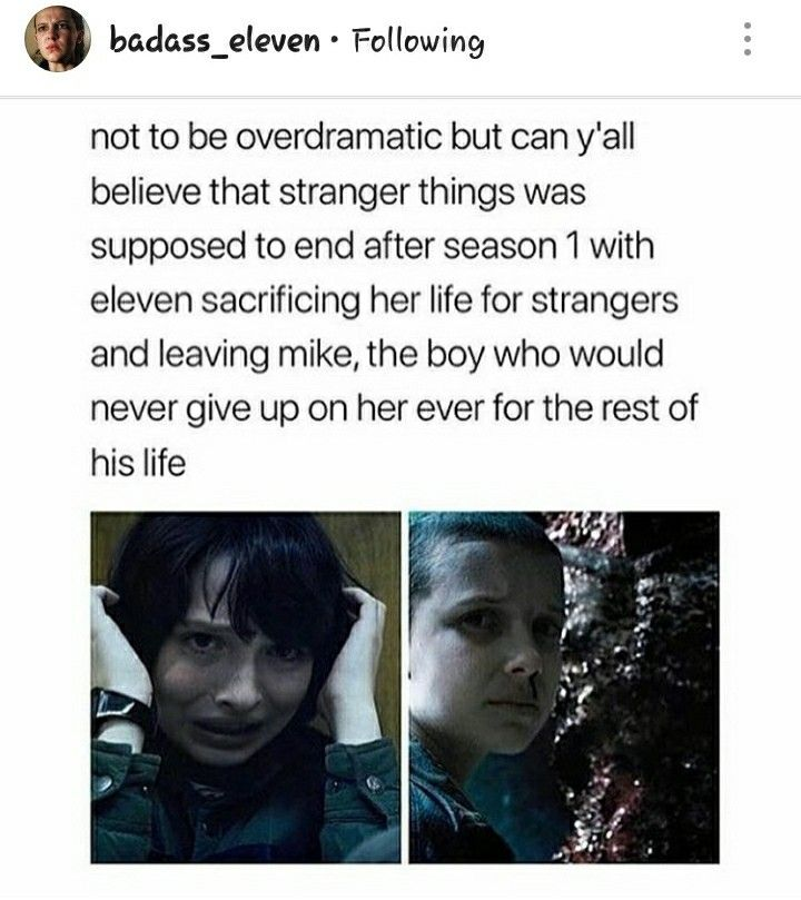 that would've been actually been a really good ending to leave it right there and then in a few years they come out with a season 2 and it's them when they're older with their own families and stuff then Eleven comes back. But I would've hated it i they just left it one season tho