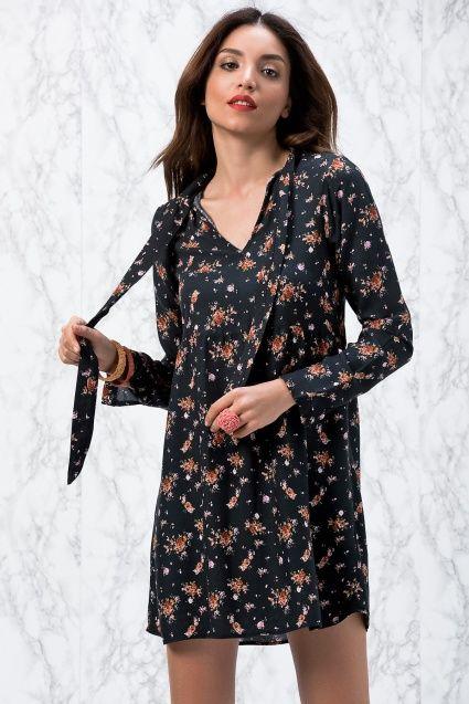 Siyah Bağcıklı Elbise SP2001