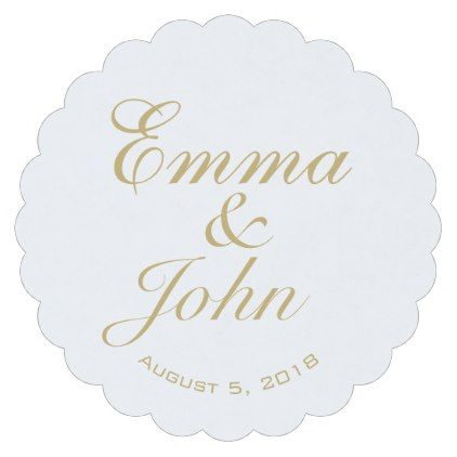 GOLD ELEGANT NAMES wedding pub custom coaster - create your own gifts personalize cyo custom