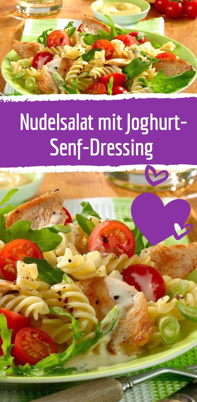 Nudelsalat mit Hähnchenbrust & Senf-Dressing