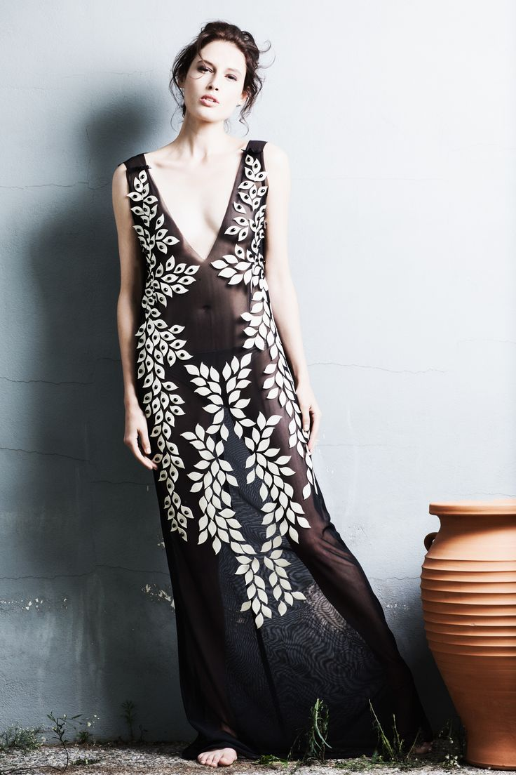 Ifigenia Fokas SS15 Applicae dress Photo credit Ilias Agiostratitis
