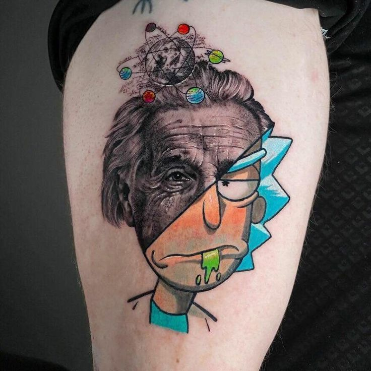 Alien Tattoo, Body Art Tattoos, New Tattoos, Tatoos, Tattoo Ink, Unique Tattoos, Small Tattoos, Rick Und Morty Tattoo, Tatuaje Rick And Morty