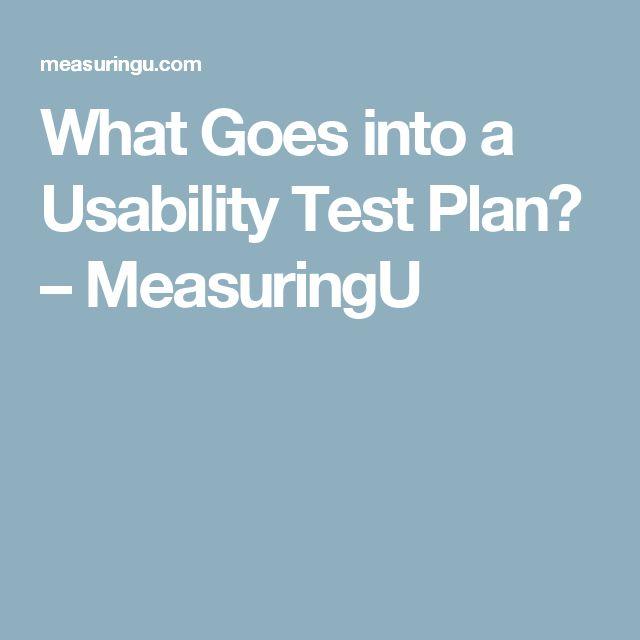What Goes into a Usability Test Plan? – MeasuringU