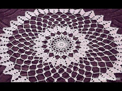 Crochet doily tutorial How to crochet doily 1-5 round Part 1 - YouTube