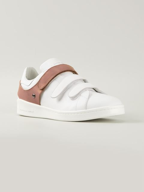 Alexander McQueen's 'Harness' sneaker, with velcro and leather straps.