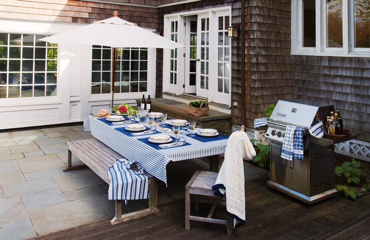Crisp and classic blue and white. http://www.lexingtoncompany.com/home/tabletop