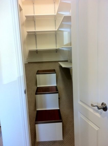Closet Over Stairs With Network Hub Closet Pinterest