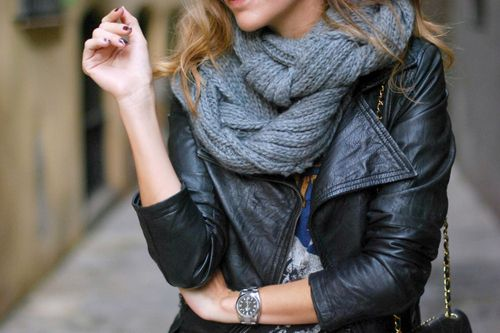 love how a scarf can transform an outfit