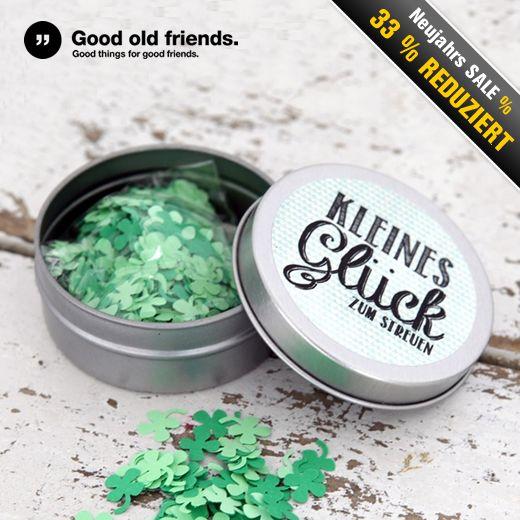 """#Konfetti bringt Freude & #GLÜCK +++ Hollen Sie sich jetzt die #Konfettidose """"Kleines Glück zum Streuen"""" von Good Old Friends zum einmaligen #SONDERPREIS."""