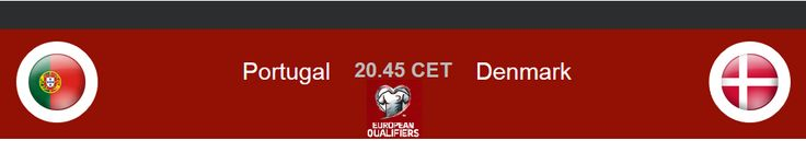 Watch UEFA Euro 2016 Qualifiers Portugal vs Denmark Live match Prediction Soccer scores Previews.Football Sports game online complete lineups On TV free h2h