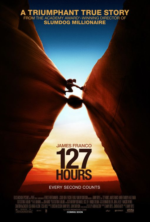 The film stars James Franco as real-life canyoneer Aron Ralston, who became trapped by a boulder in an isolated slot canyon in Blue John Canyon, southeastern Utah, in April 2003.