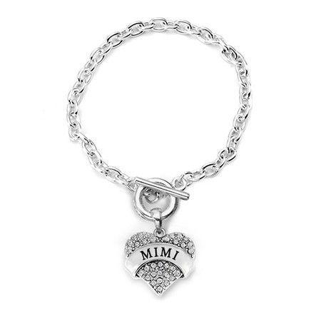 Mimi Pave Heart Toggle Bracelet