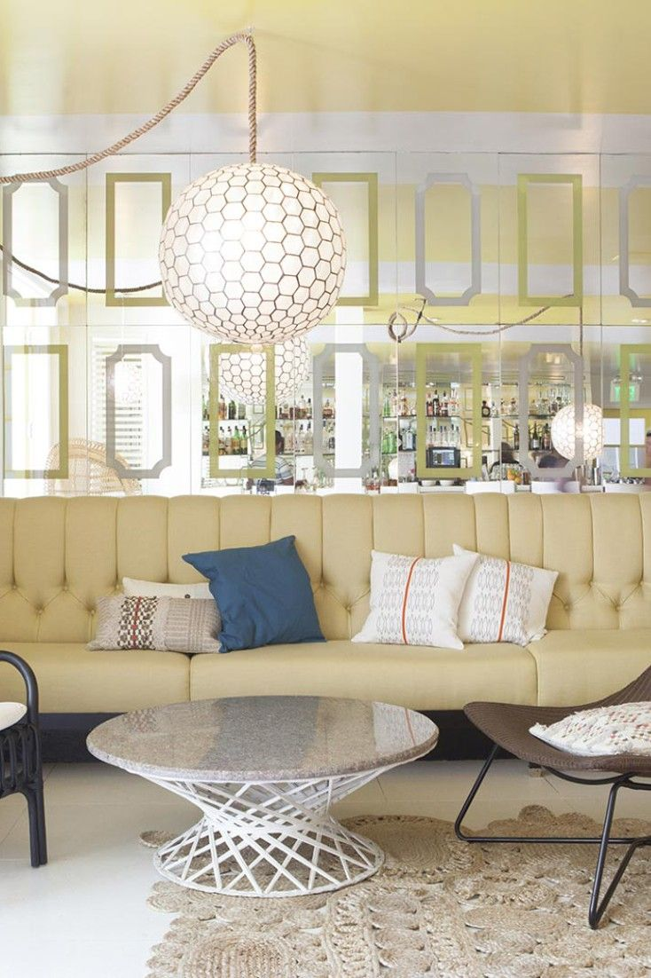 Funky pendant lighting is always a plus. Avalon Hotel and Bungalows Palm Springs (Palm Springs, California) - Jetsetter
