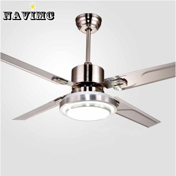 Remote Control Ceiling Fans With Lights Modern LED Fashion Lights Stainless Steel Wing Fan Lights For Decorative #e #eco #s #ec #clothing $309.99 #organic #natural #ecofriendly #sustainaable #sustainthefuture