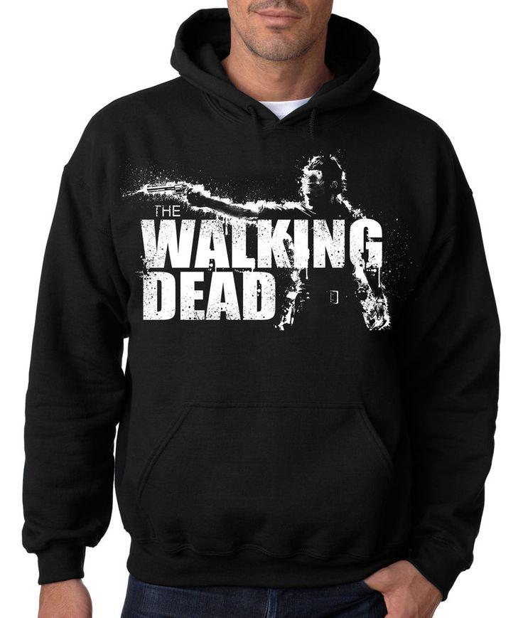 THE WALKING DEAD HOODIE - Zombie Hooded Sweatshirt AMC Show Hunter Daryl Dixon #RockCityThreads #Hoodie