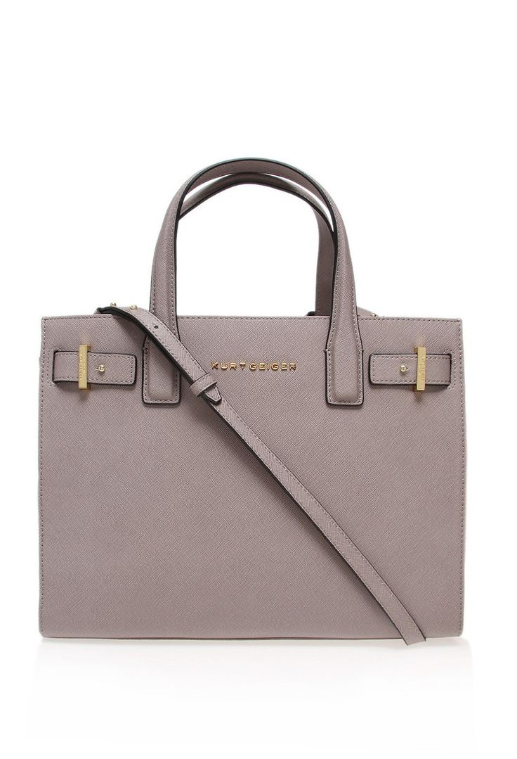 Kurt Geiger - Taupe Saffiano London Tote Bag