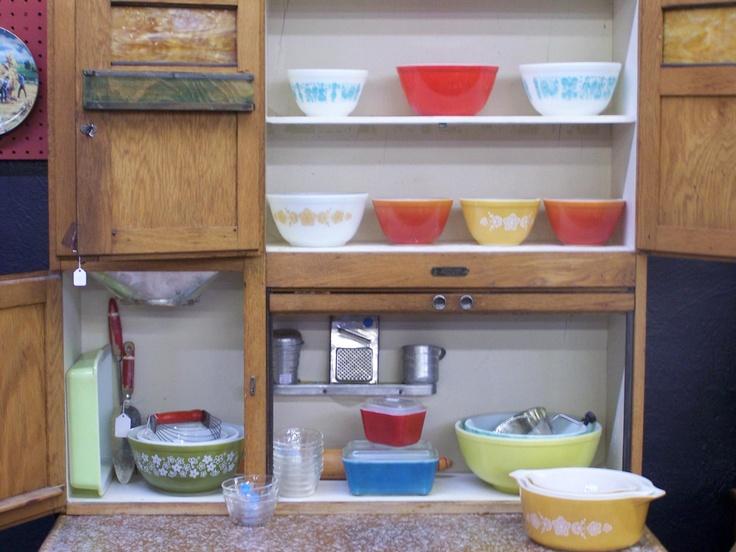 Kitchen Maid : Pyrex and Kitchen Maid cabinet  Kitchen Nostalgia  Pinterest