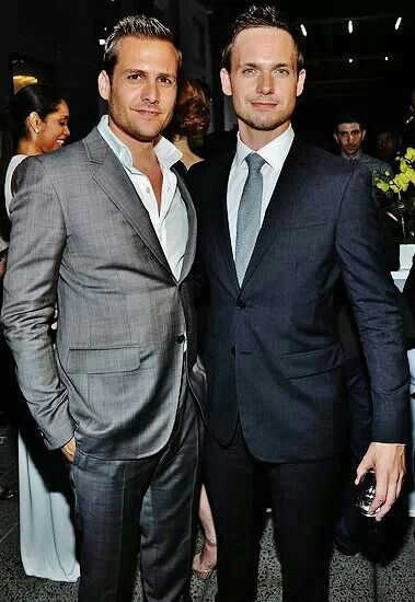 Gabriel Macht & Patrick J Adams...fantastic actors, and they know how to dress!