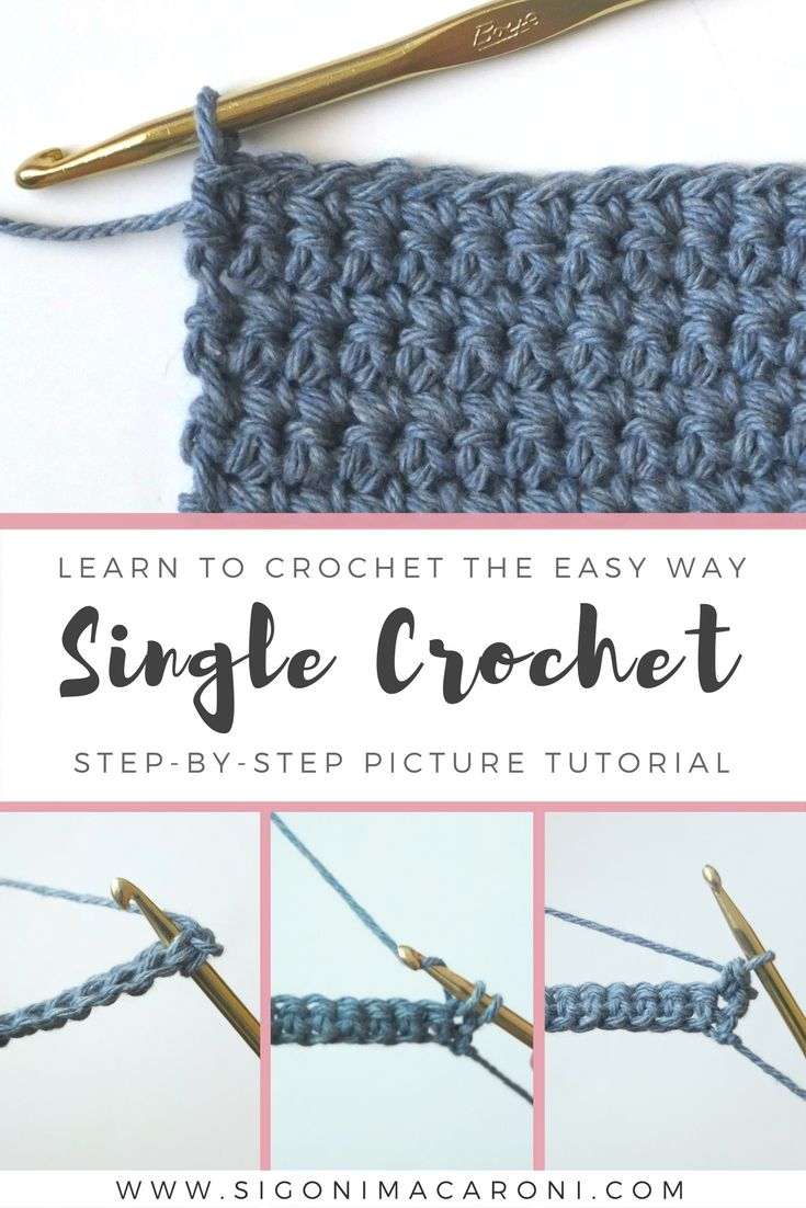 Learn To Crochet The Easy Way This Is A Step By Step Picture Tutorial For H Beginner Crochet Tutorial Beginner Crochet Projects Crochet Stitches For Beginners