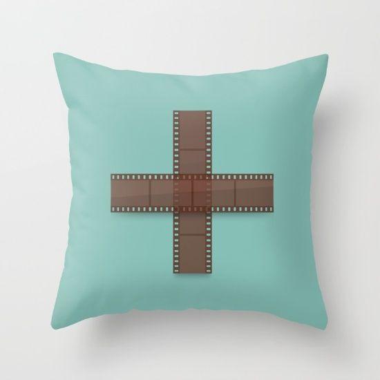 Double Negative Throw Pillow - Photography, pun, film, negatives, positive…
