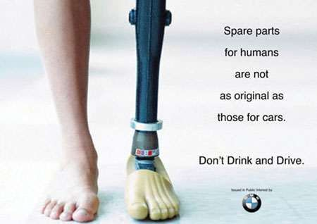 Don't drink and drive: negative advertising