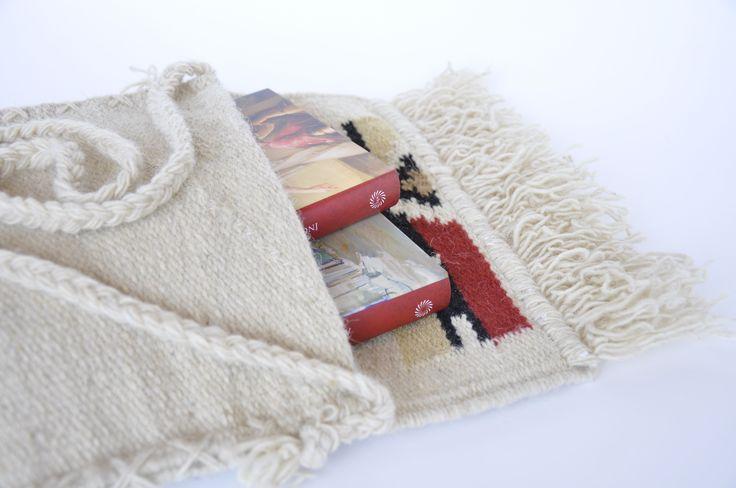 Rustic bag - handmade woolen traditional bag - authentic Romanian folk art