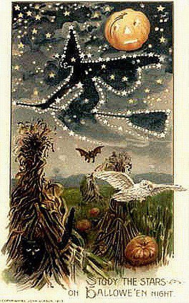 : Vintage Halloween, Halloween Card, Hallows Eve, Star, Halloween Postcards, Halloween Vintage, Vintage Image