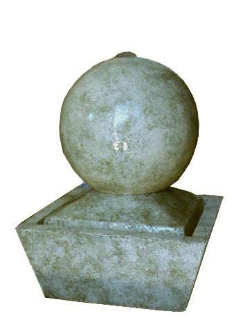 fuente de agua feng shui mini esfera cemento impecable