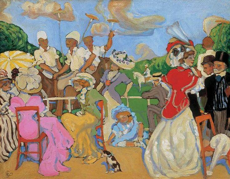 Gyula Batthyany (Hungarian artist, 1887-1959) Polo 1908