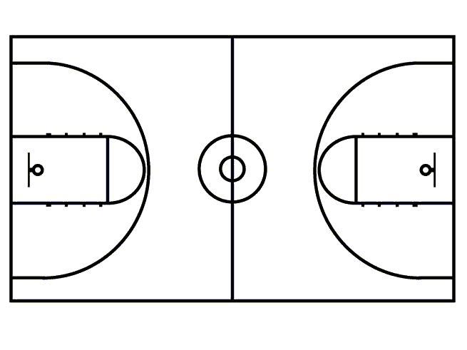 basketball court | Free basketball, Templates printable ...