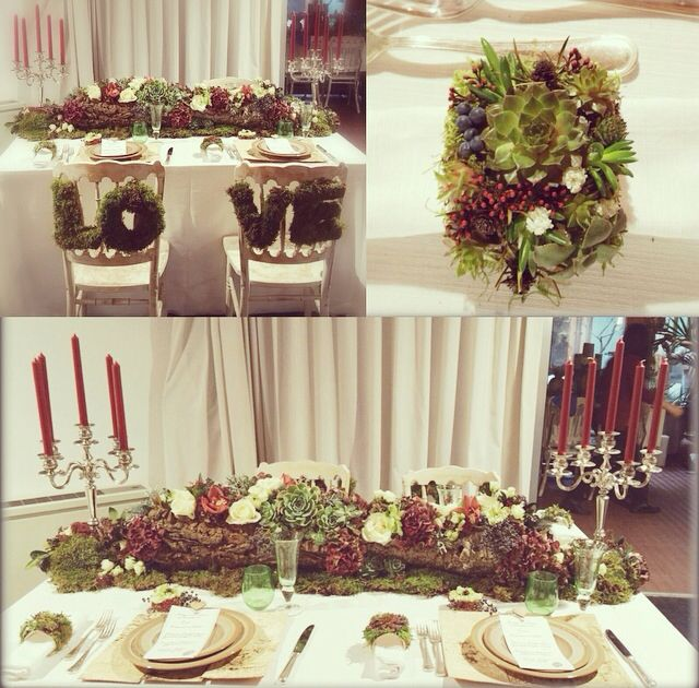 Marsala and natural tablesetting! Mise en place