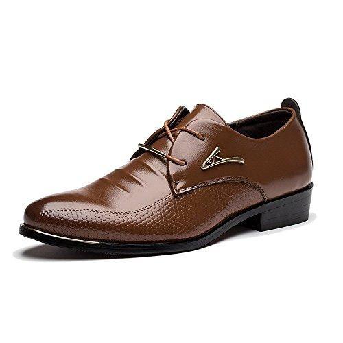 Oferta: 15.83€. Comprar Ofertas de Minetom Hombres Casual Oxfords Estilo Británico Comodidad Cuero de Boda con Cordones de Zapatos Planos de Vestir de Negocios barato. ¡Mira las ofertas!