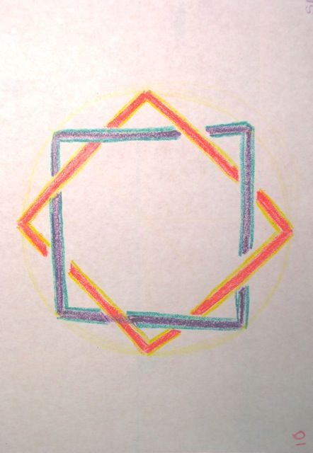 Waldorf ~ 4th grade ~ Form Drawing ~ Octagram Knot