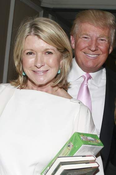 "Martha Stewart and Donald Trump at Richard ""Skip"" Bronson's, ""The War at the Shore"" Book Publication Party held at Loews Regency Hotel in New York City on June 11, 2012."