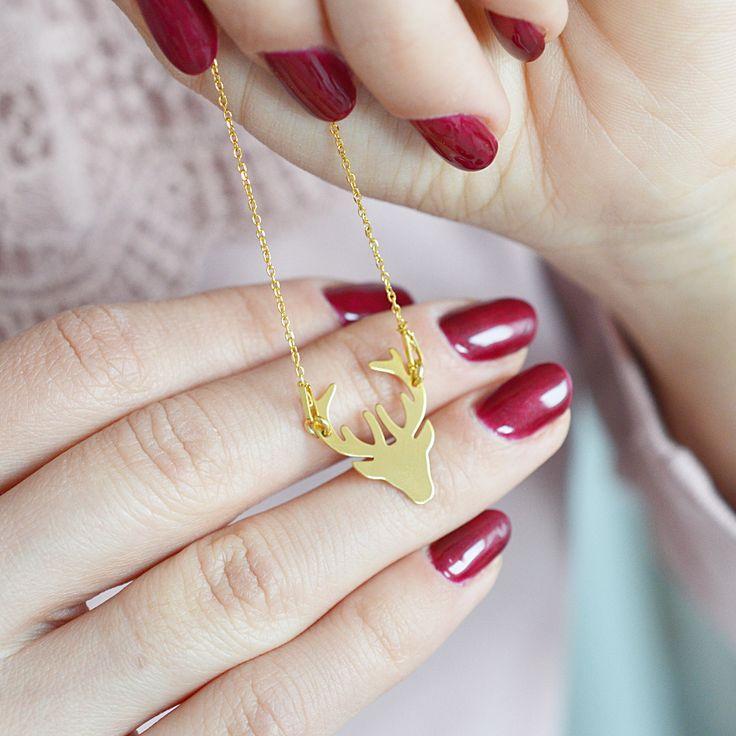 Naszyjnik celebrytka jelonek złoty  >>> https://laoni.pl/Naszyjnik-celebrytka-jelonek-zloty #jelonek #złoty #naszyjnik #biżuteria #dlaniej