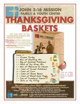 thanksgiving baskets for the needy - Google Search