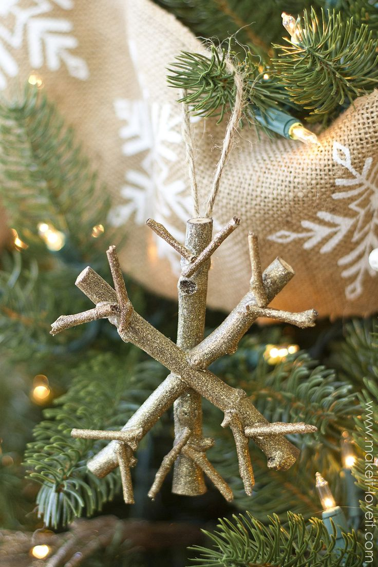 Twiggy Snowflake Ornament—–a cinch to make!