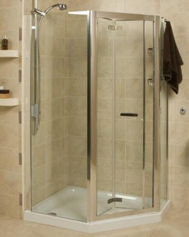 Roman Embrace EP1213S Silver Frame Neo Angle Panel Pack - 1200 x 900mm