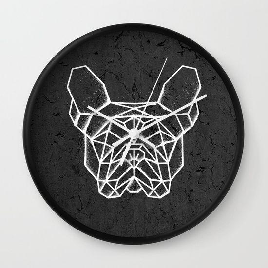 French Bulldog Wall Clock. #geometric #french #bulldog #clock