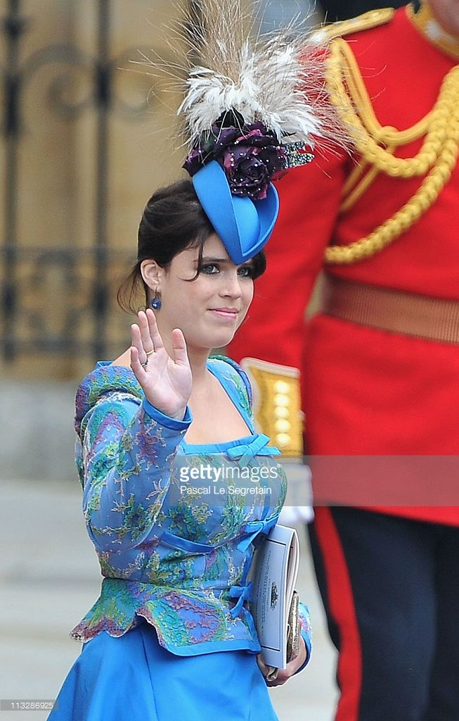 Princess Eugenie of York leaves the Abbey following the marriage of Their Royal Highnesses Prince William Duke of Cambridge and Catherine Duchess of Cambridge at Westminster Abbey on April 29, 2011 in London, England. The marriage of the second in line to the British throne was led by the Archbishop of Canterbury and was attended by 1900 guests, including foreign Royal family members and heads of state. Thousands of well-wishers from around the world have also flocked to London to witness…