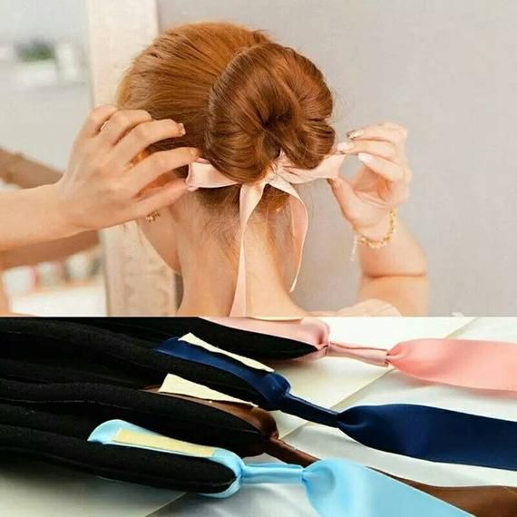 1PC Women Magic Tools Foam Sponge Device Quick Messy Donut Bun Hairstyle Hair Bows Band Accessories